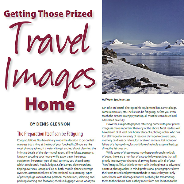 Getting Those Prized Travel Images Home