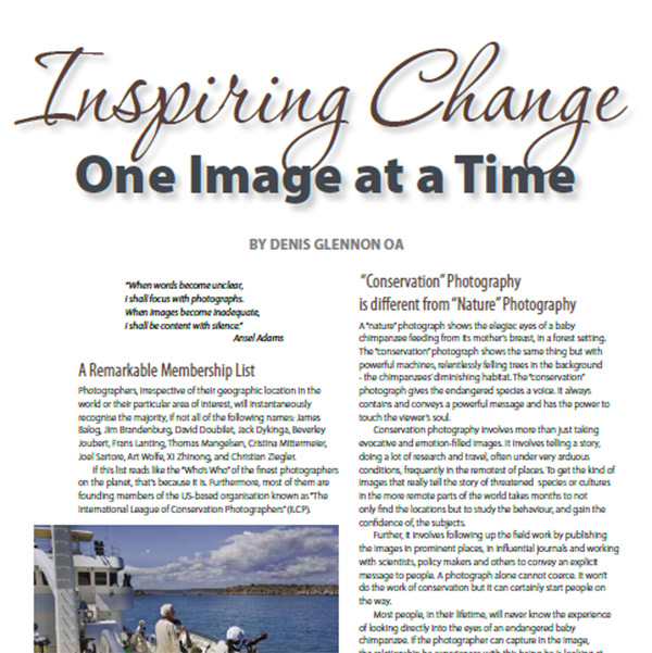 Inspiring Change- One Image at a Time