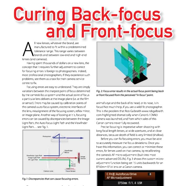 Curing Front Focus & Back Focus with Lens Align