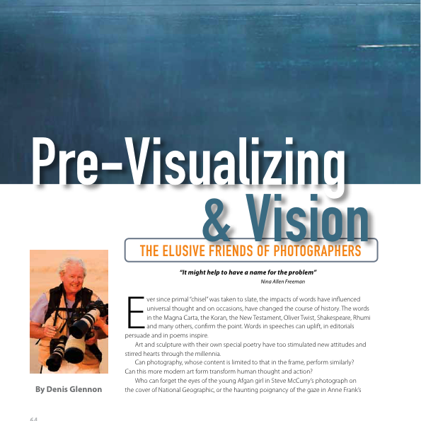 Pre-Visualizing & Vision – The Elusive Friends of Photographers